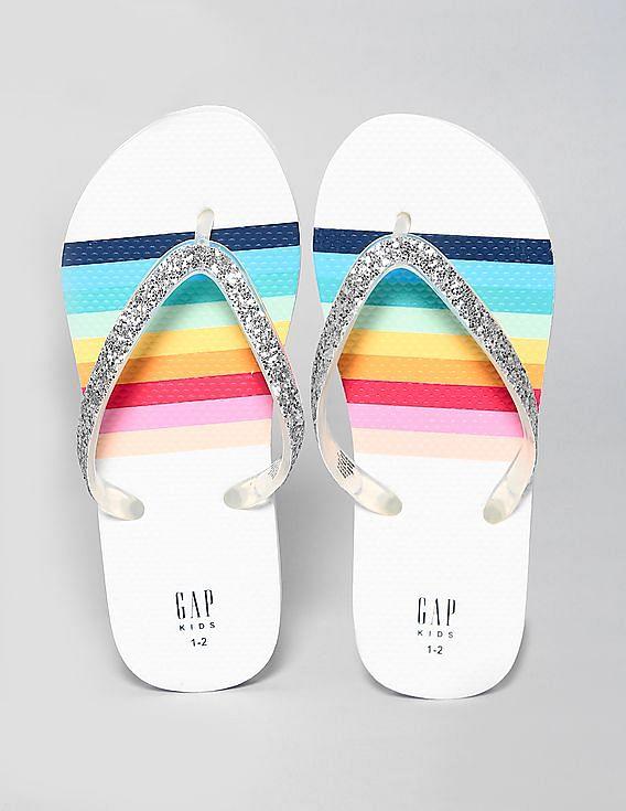 0b871834e Buy Girls Girls Glitter Rainbow Flip Flops online at NNNOW.com