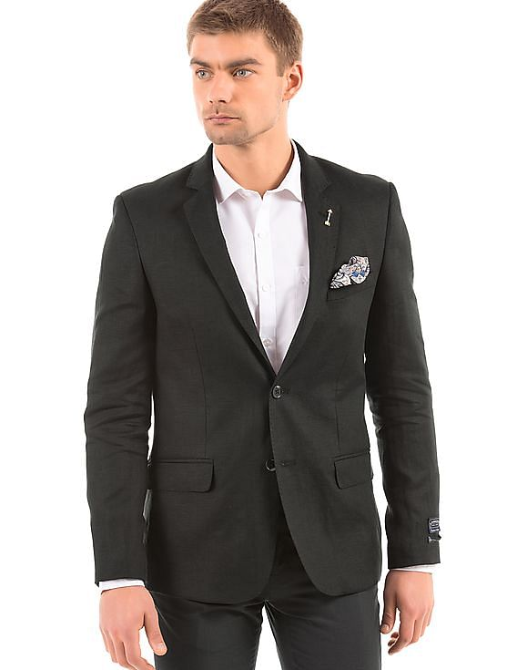 Upto 70% off on The Grand Brand Sale By Nnnow | ARROW Regular Fit Linen Blazer @ Rs.5,600