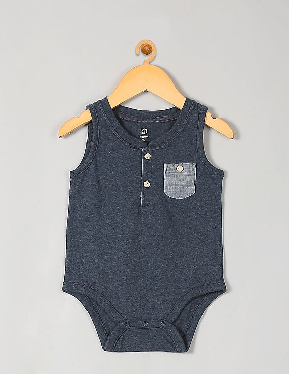 a6dd53e41 Buy Unisex Kids Baby Tank Pocket Bodysuit online at NNNOW.com