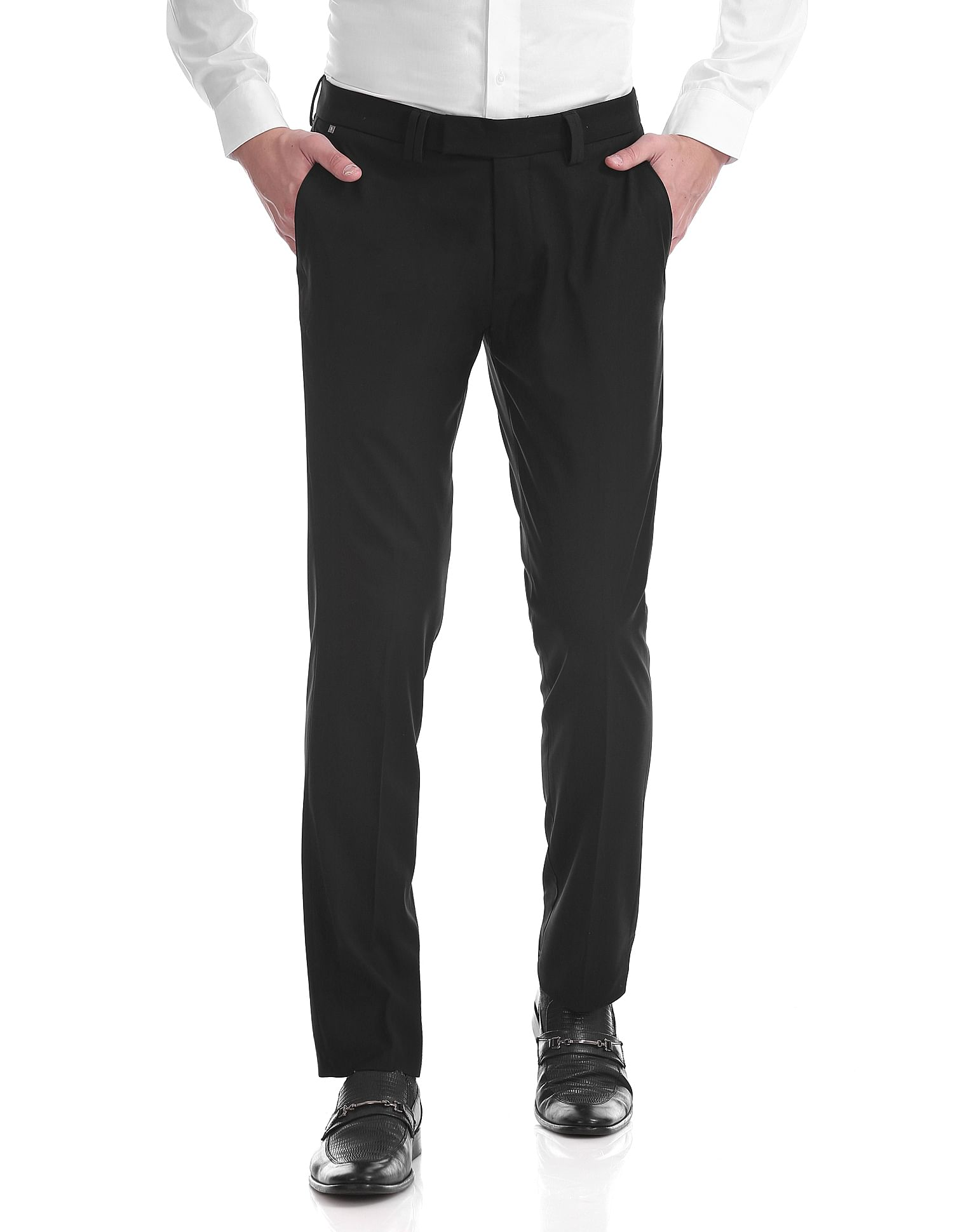 U.S. Polo Assn. Men Casual Wear Solid Trouser