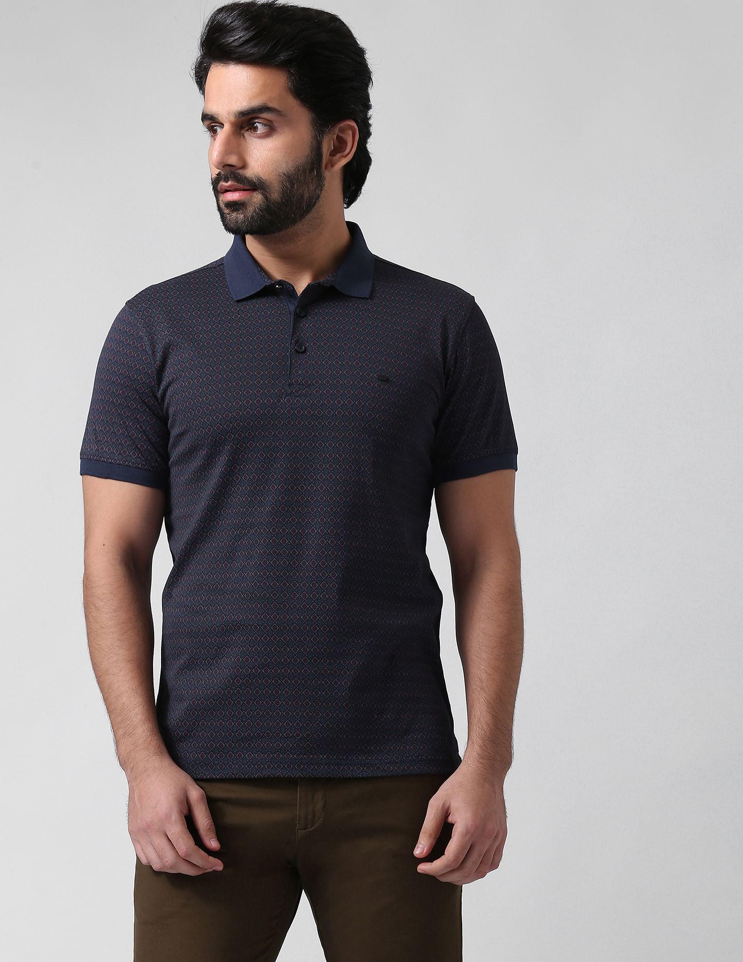True Blue Men Casual Wear Printed Polo T-Shirt