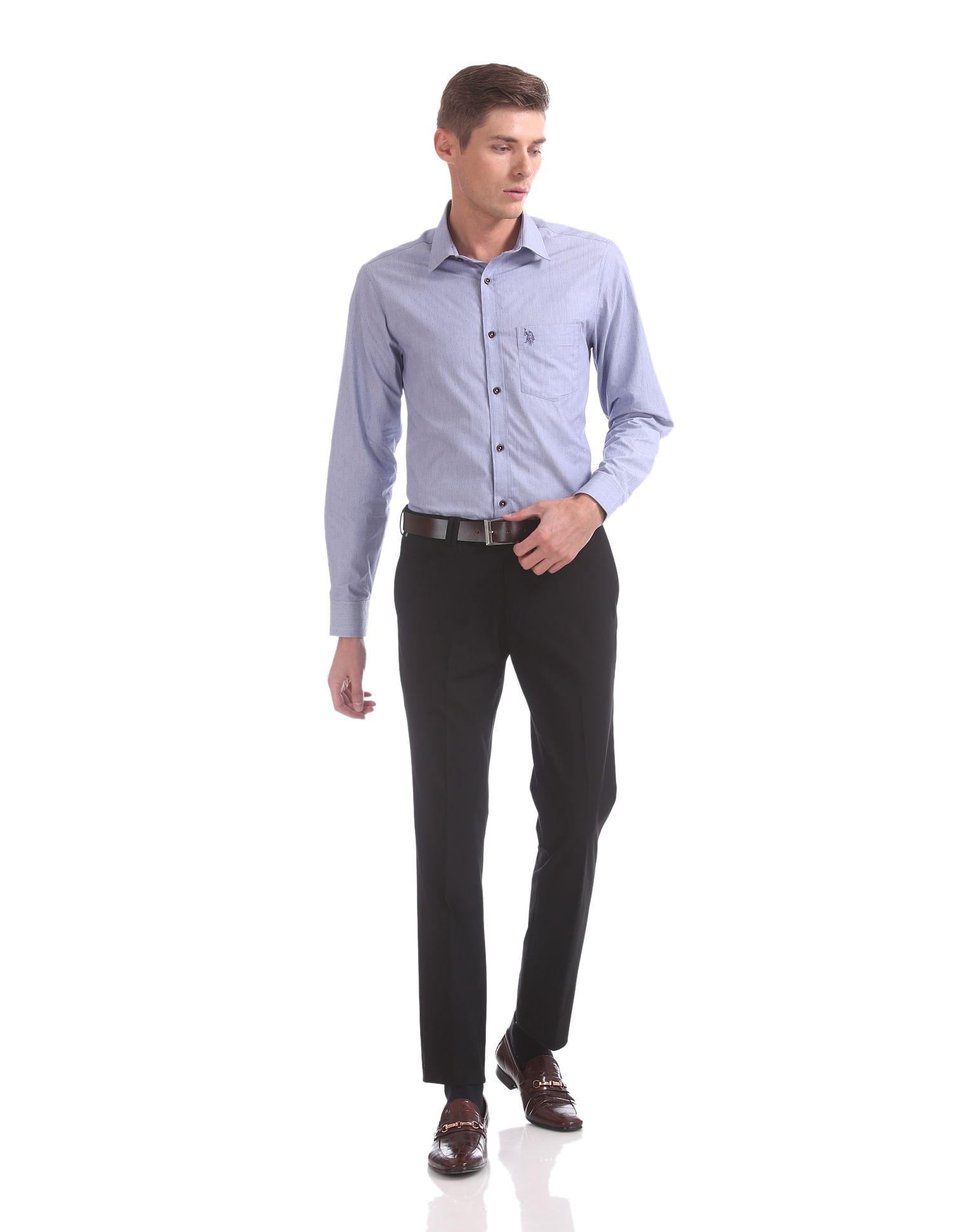 U.S. Polo Assn. Men Casual Wear Solid Trouser
