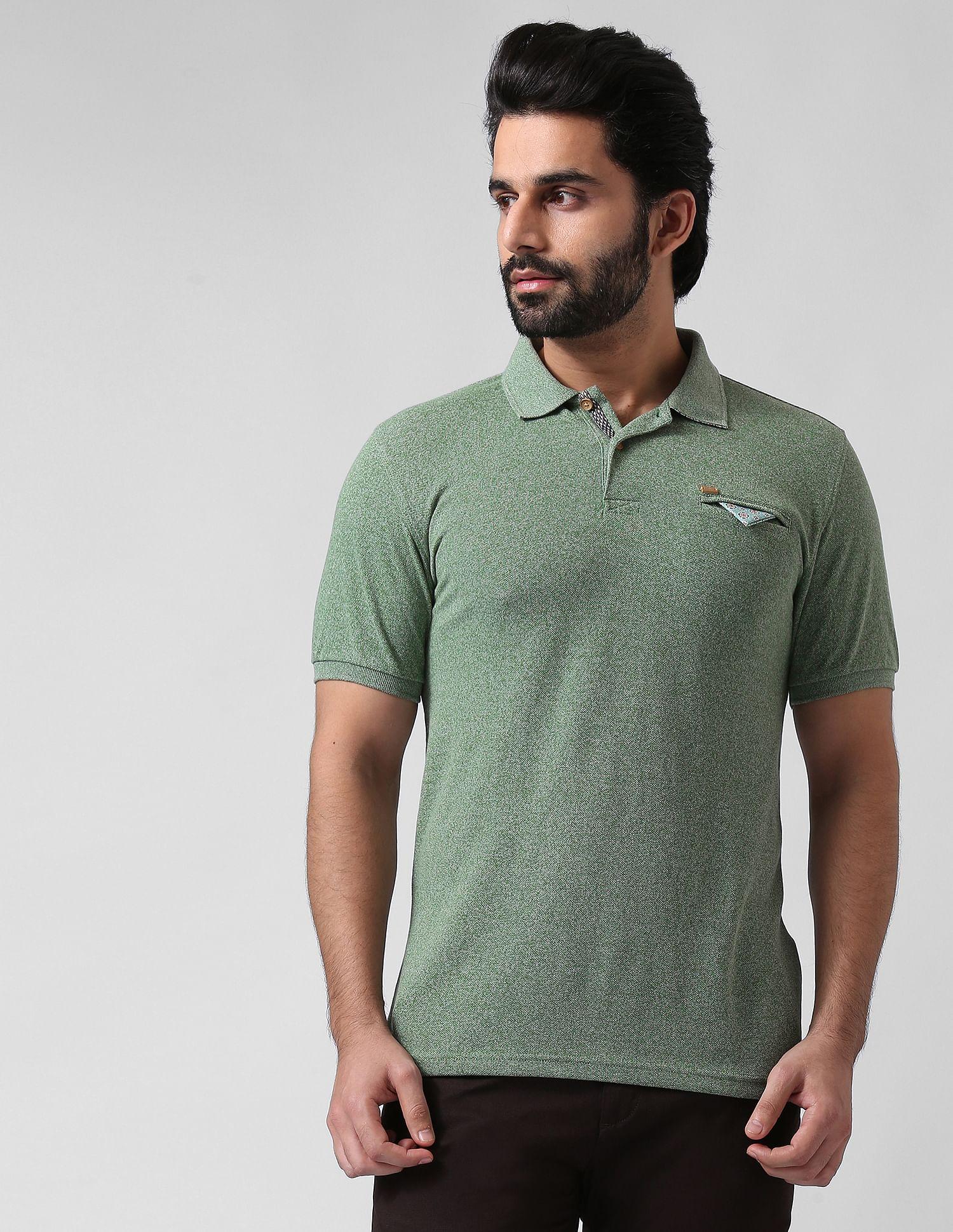 True Blue Men Casual Wear Solid Polo T-Shirt