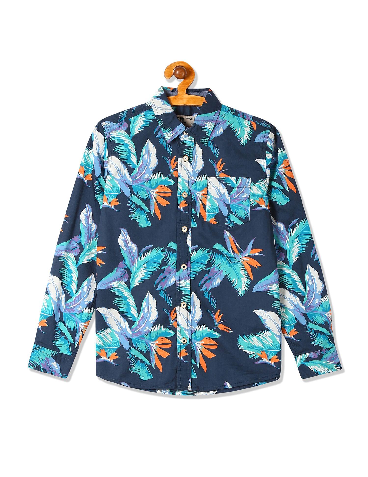 Flying Machine Casual Wear Printed Boys Shirt