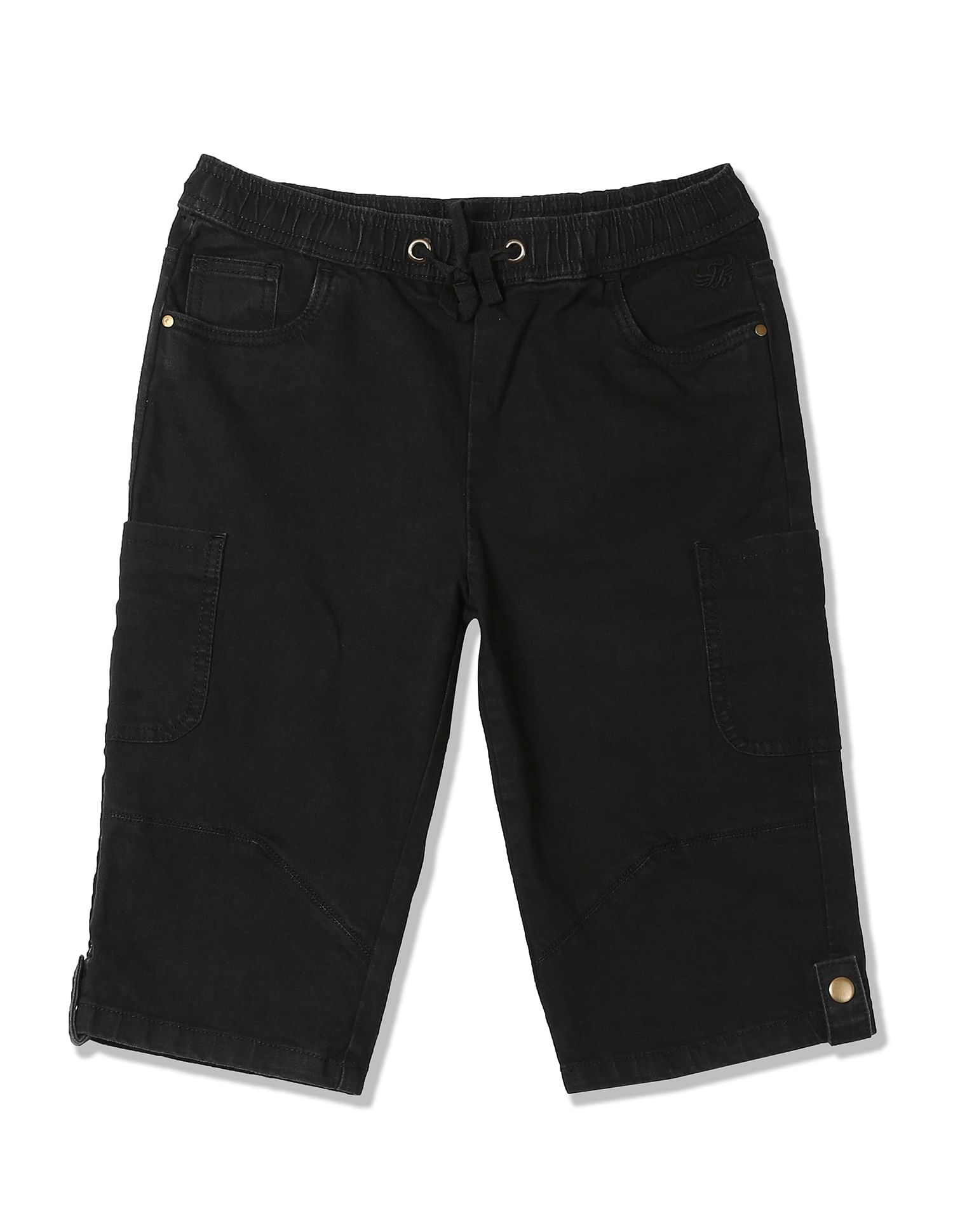 Flying Machine Boys Casual Wear Solid Shorts