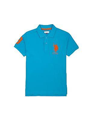 U.S. Polo Assn. Kids Boys Solid Pique Knit Polo Shirt