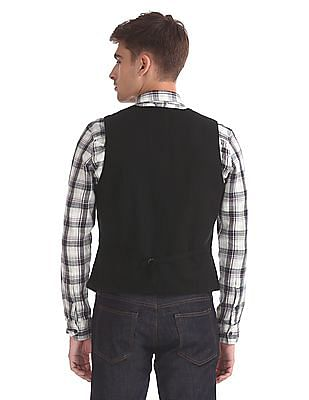 Flying Machine Regular Fit Solid Waistcoat
