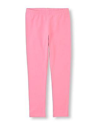 The Children's Place Girls Solid Cotton Spandex Leggings