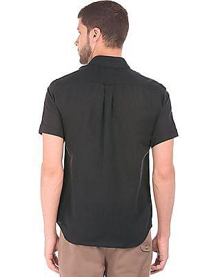 U.S. Polo Assn. Short Sleeve Cotton Linen Shirt