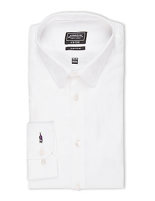 Arrow Newyork Self Pattern French Placket Shirt