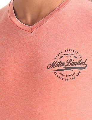 Cherokee Heathered V-Neck T-Shirt