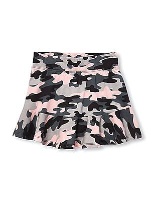 The Children's Place Girls Matchables Printed Knit Ruffle Skort