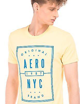 Aeropostale Rubber Print Crew Neck T-Shirt