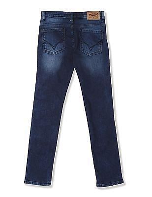 FM Boys Blue Boys Skinny Fit Stone Wash Jeans