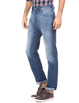 Flying Machine Mid Rise Straight Fit Jeans