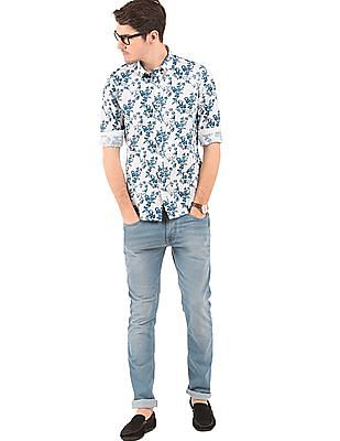 Flying Machine Slim Fit Printed Shirt