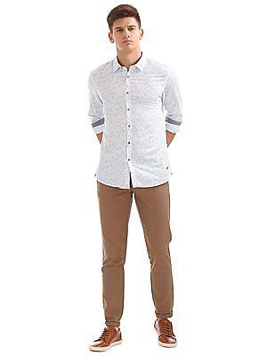 Cherokee Printed Cotton Linen Shirt