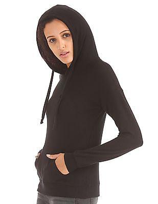 Elle Solid Hooded Sweatshirt