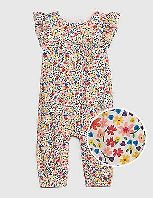 GAP Multi Colour Baby Flutter One-Piece