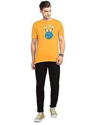 Colt Yellow Short Sleeve Printed T-Shirt