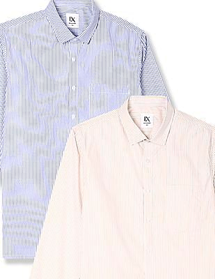 Excalibur Assorted Vertical Stripe Shirt - Pack Of 2