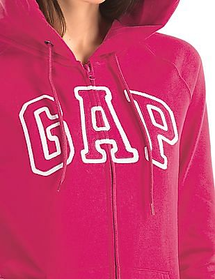 GAP Appliqued Front Hooded Sweatshirt