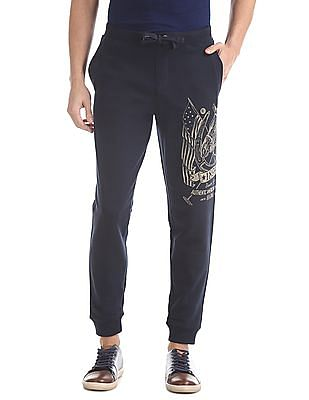 U.S. Polo Assn. Denim Co. Regular Fit Contrast Print Joggers