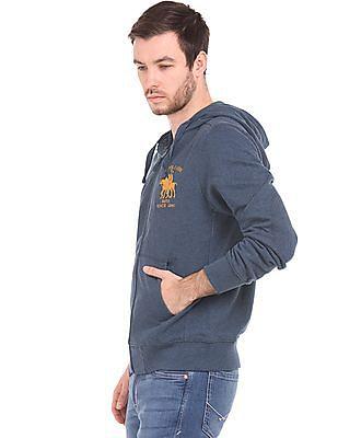 U.S. Polo Assn. Hooded Zip Up Sweatshirt