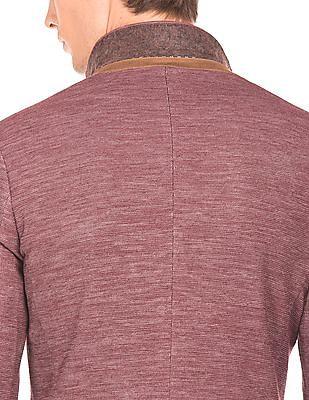 Arrow Newyork Single Breasted Textured Blazer
