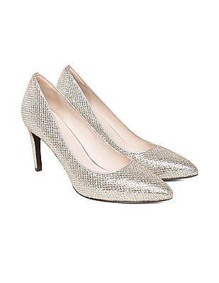 Upto 60% Off on Footwear Sale - Men & Women By Nnnow | COLE HAAN Glitter Point Toe Pumps @ Rs.7,200