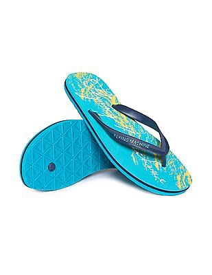 Flying Machine V-Strap Printed Flip Flops