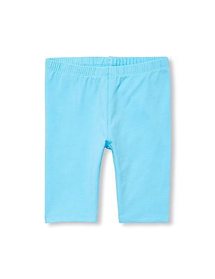 The Children's Place Girls Blue Matchables Solid Bike Shorts