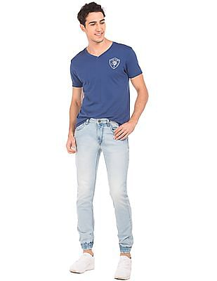 Flying Machine Stone Wash Jogger Jeans