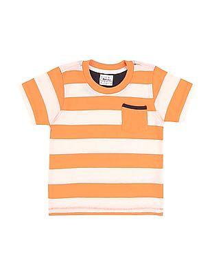 Donuts Boys Crew Neck Striped T-Shirt