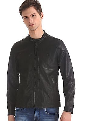 U.S. Polo Assn. Black Solid Biker Jacket