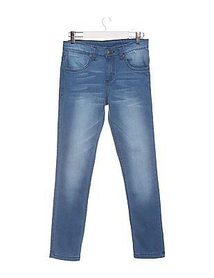 FM Boys Boys Slim Fit Stone Washed Jeans