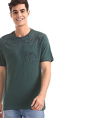 Cherokee Green Patch Pocket Slub T-Shirt