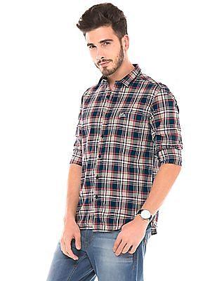 U.S. Polo Assn. Denim Co. Plaid Slim Fit Shirt