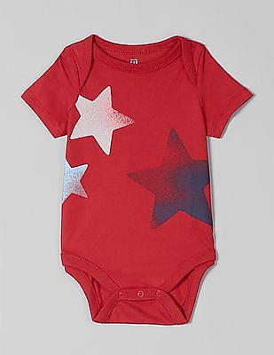 GAP Red Baby Graphic Short Sleeve Bodysuit