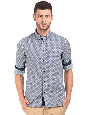 Arrow Sports Geometric Print Slim Fit Shirt