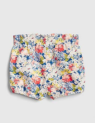 GAP Baby Floral Bubble Shorts In Twill
