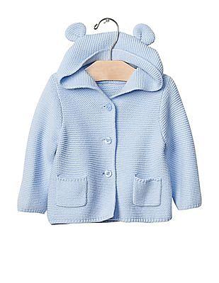 GAP Baby Blue Bear sweater hoodie