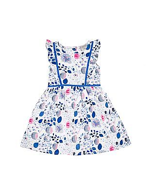 Cherokee Girls Printed Cotton Fit And Flare Dress