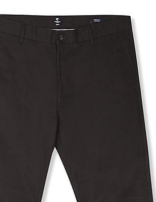 Ruggers Brown Urban Slim Fit Solid Trousers
