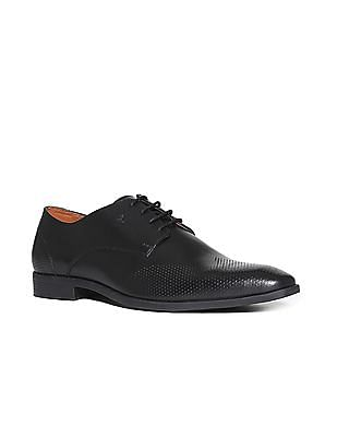Arrow Perforated Wingtip Derby Shoes