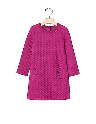 GAP Baby Quilted Jacquard Shift Dress