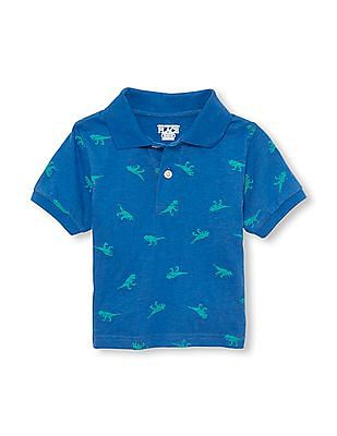2d3e2e5f6 Buy Toddler Boy Toddler Boy Short Sleeve Printed Knit Polo online at ...