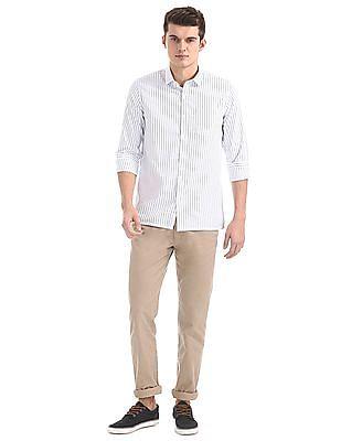 Excalibur Spread Collar Striped Shirt