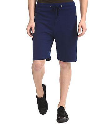 Colt Blue Drawstring Waist Patterned Shorts