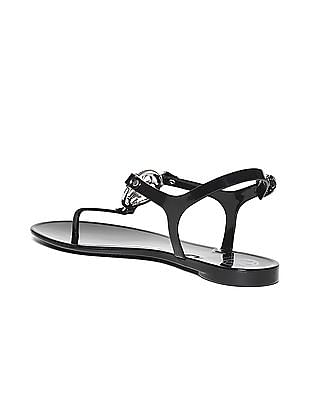 GUESS Metallic Logo Solid Sandals